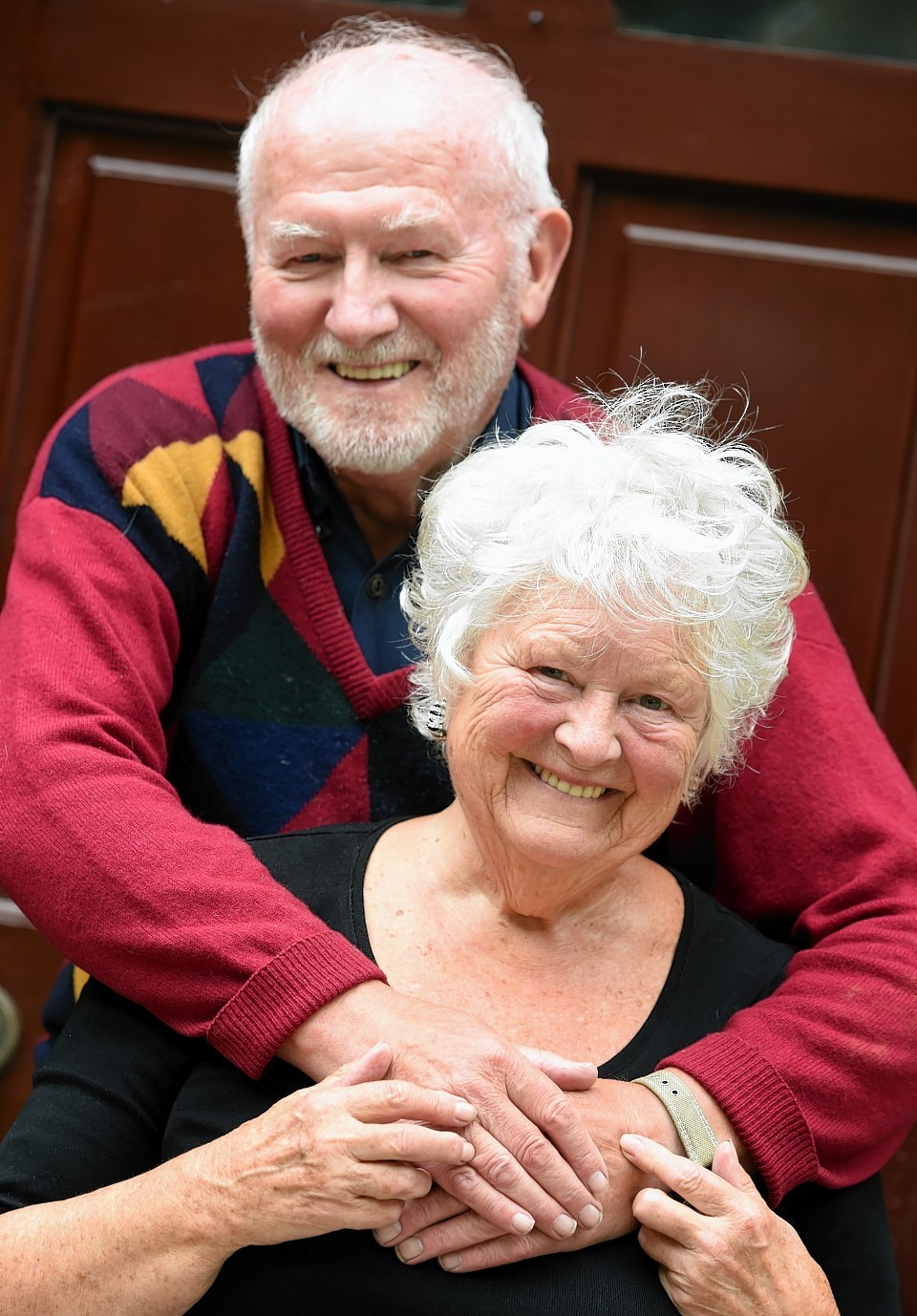 Heather Bisset has been made an MBE and is pictured here with husband, Raymond Bisset OBE. Picture: Jim Irvine.