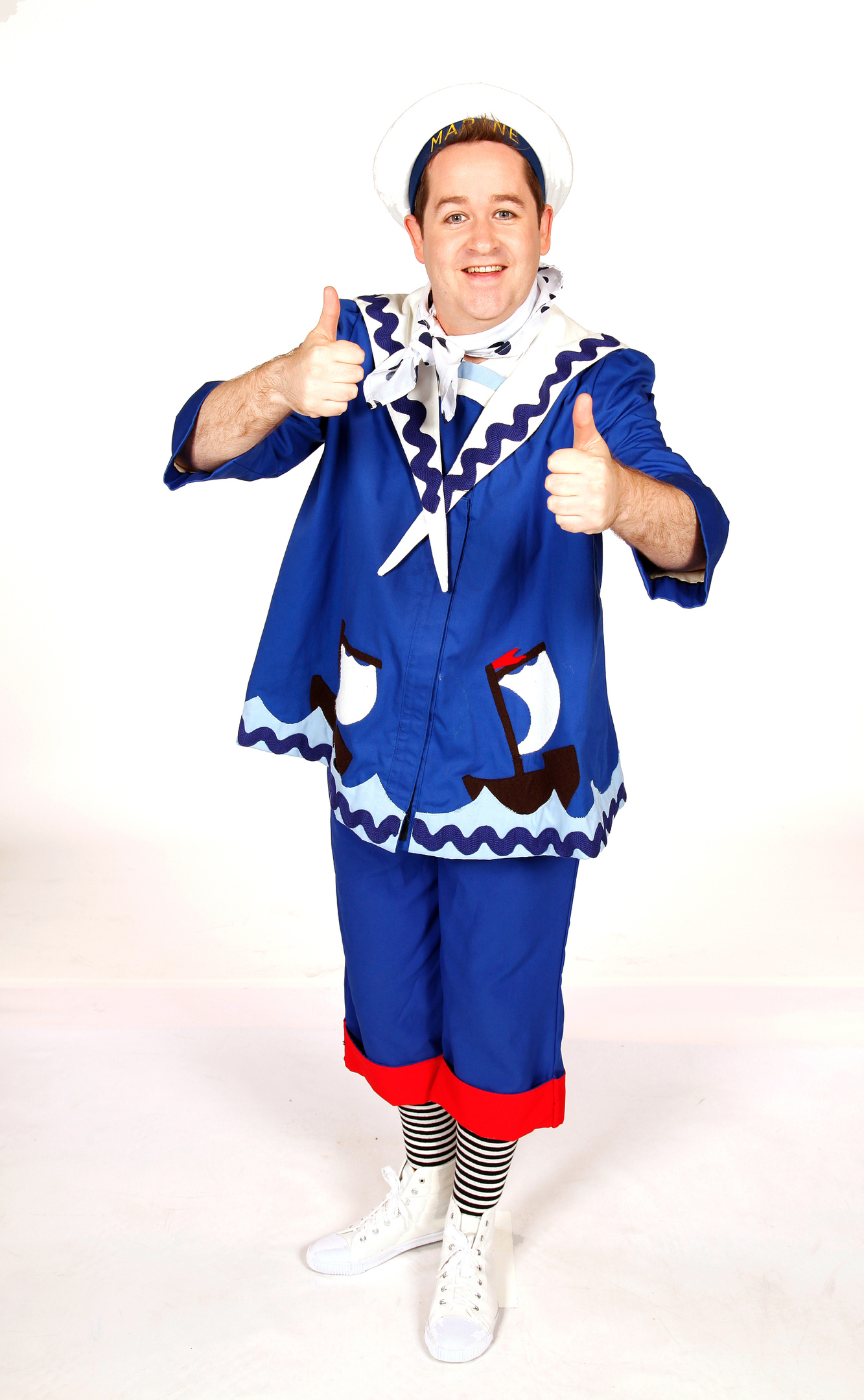 Ross Allan as Smee in a previous pantomime
