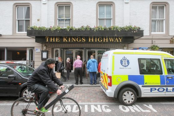 Emergency services attended the Kings Highway on Church Street in Inverness. Picture by Andrew Smith