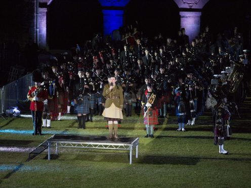 The Highland Military Tattoo at Fort George, Inverness  *For more Information Contact Photographic Section, RAF Lossiemouth, IV31 6SD. Tel: 01343 817191  Crown Copyright: This image may be used for current news purposes only.  It may not be used, reproduced or transmitted for any other purpose without first obtaining a copyright license available from the MoD, Crown Copyright Unit. ipr-cc@dpa.mod.uk