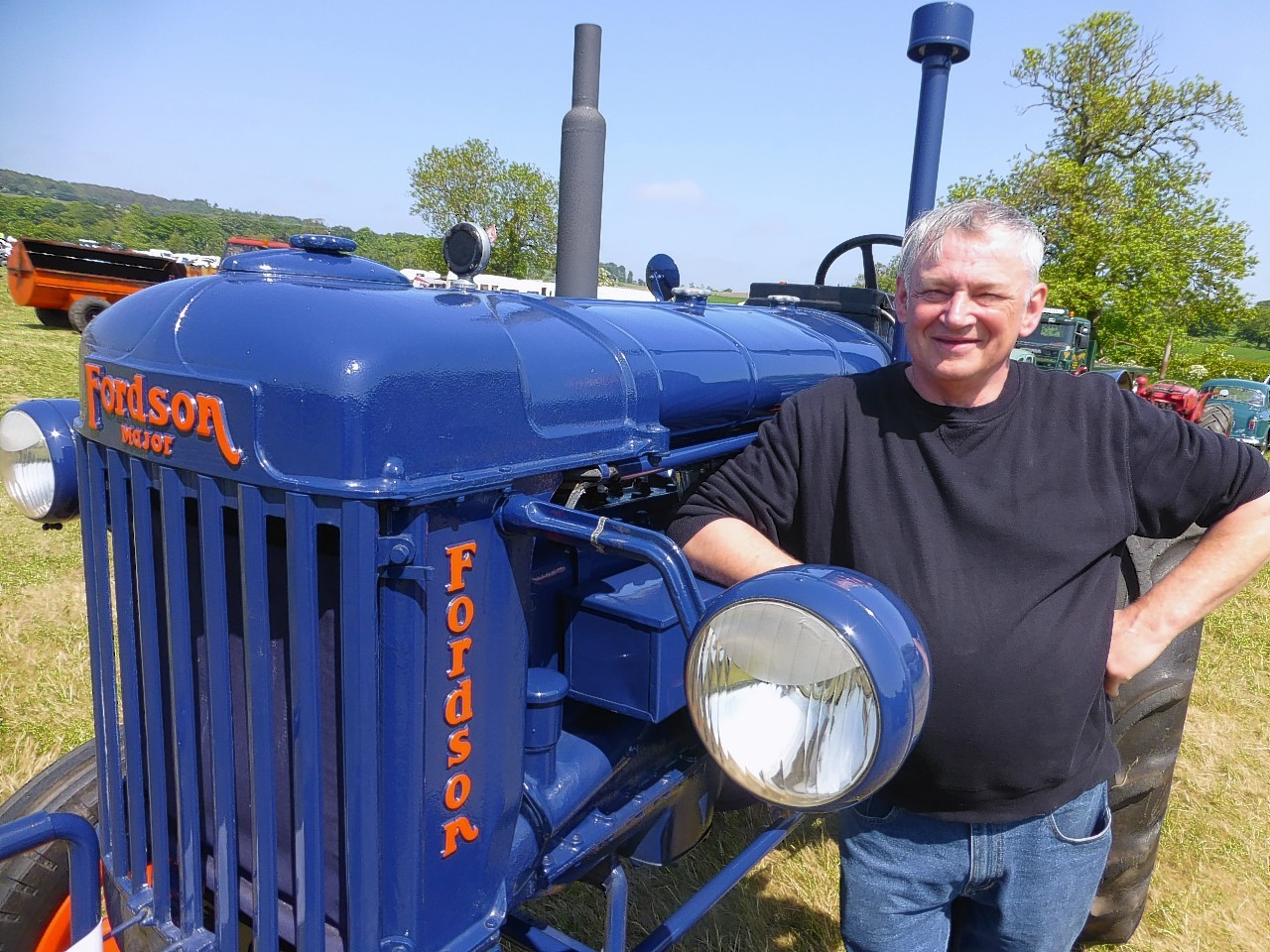 Jim Penny at the rally with his 1947 petrol-paraffin Fordson Major