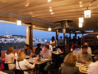 View from the terrace of The Insolito restaurant