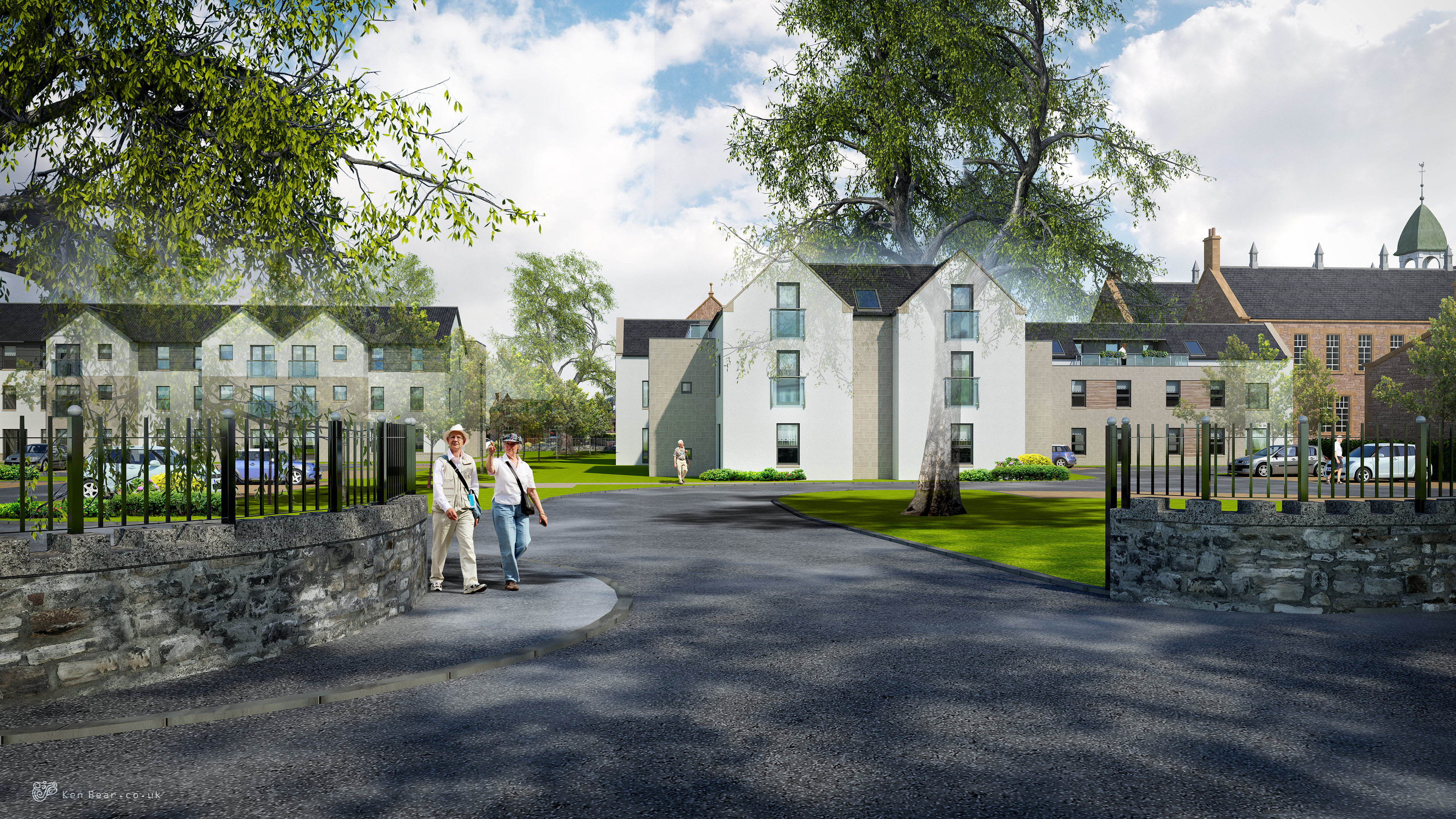An artist's impression of the new look Midmills building.