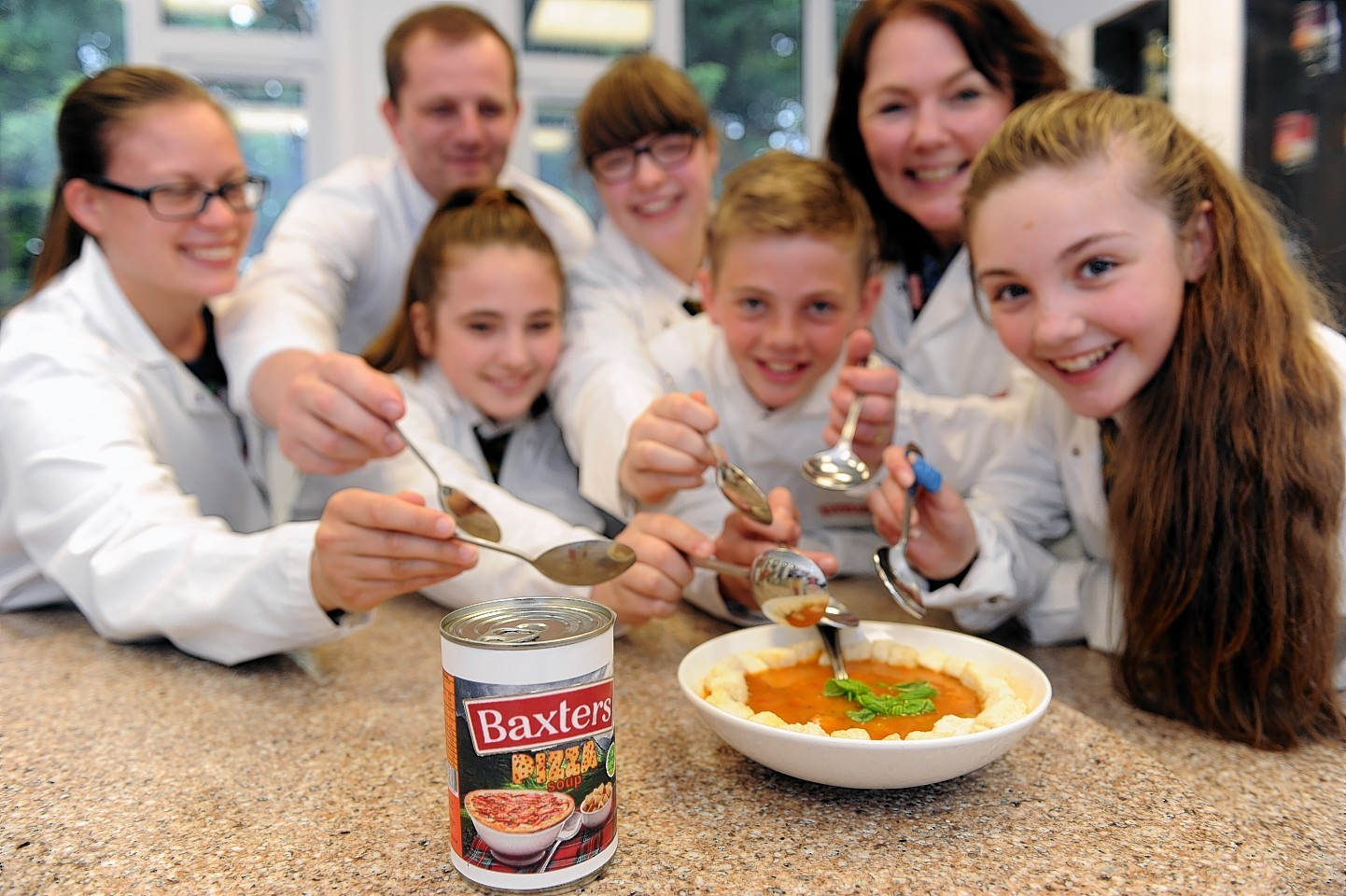 Milne's High School pupils who won the Baxter's Soup Challenge