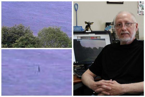Jim Winiski saw the monster on his computer