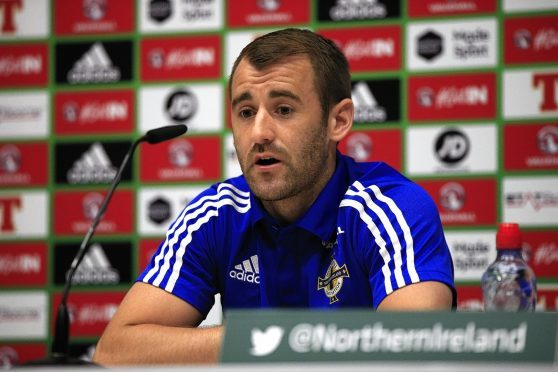 Northern Ireland's Niall McGinn during a press conference at Parc de Montchervet, Saint-Georges-de-Reneins.