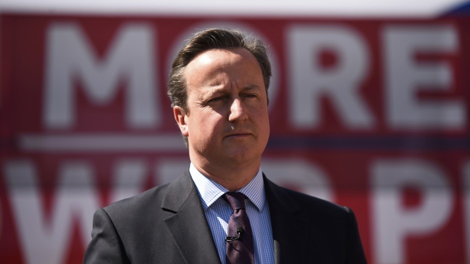 Prime Minister David Cameron during a Britain Stronger In Europe campaign event at the Oval cricket ground in London
