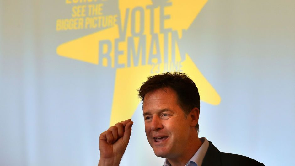 Nick Clegg is a staunch Europhile