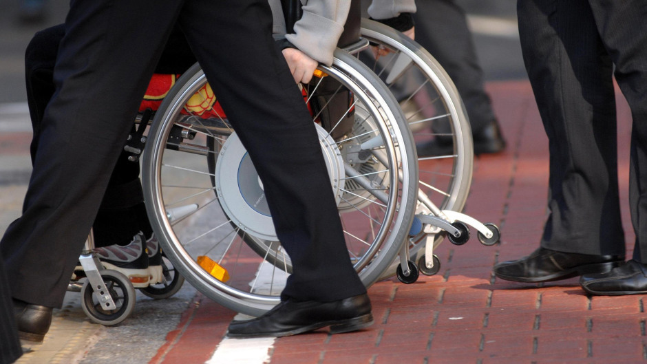 Wheelchair users were refused access to taxis at Aberdeen International Airport.