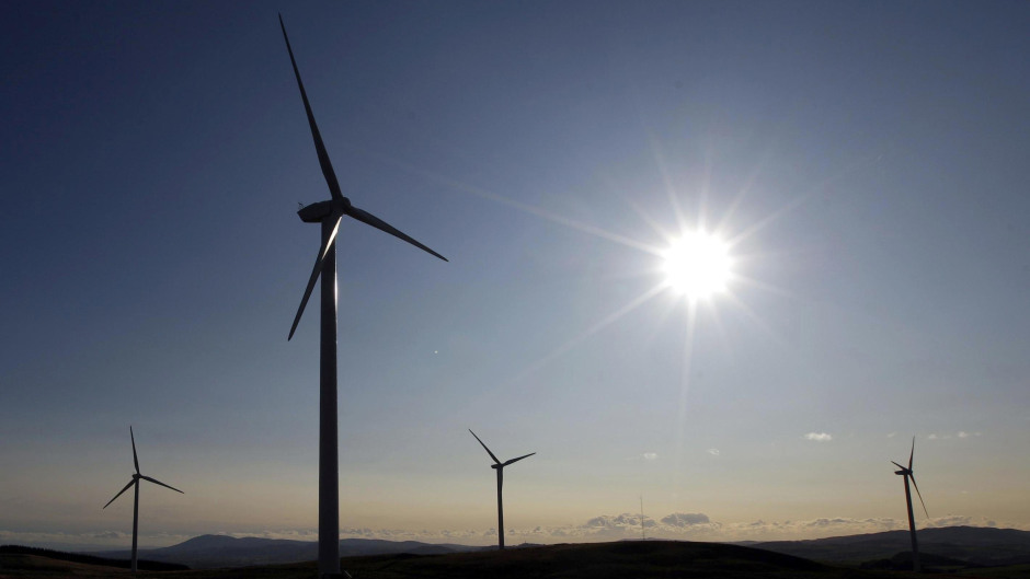 The new wind farm in Dumfries and Galloway will supply Nestle