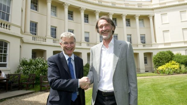 Jim Ratcliffe (right) with Sir Andrew Likierman, dean of the London Business School