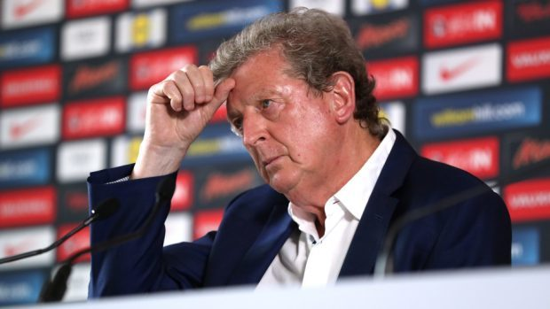 Former England manager Roy Hodgson during a press conference in Chantilly