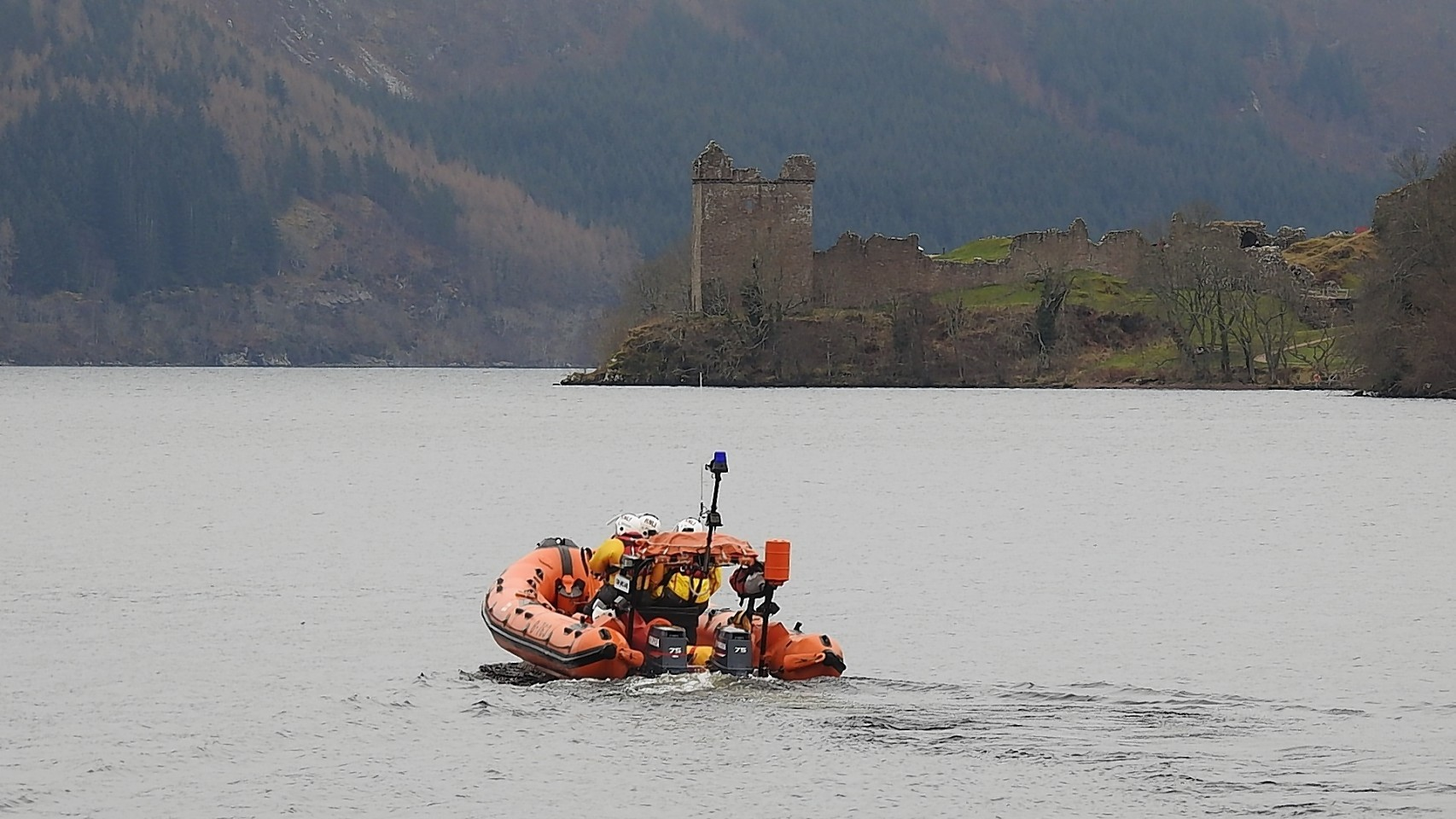 The Loch Ness RNLI crew on a recent mission.