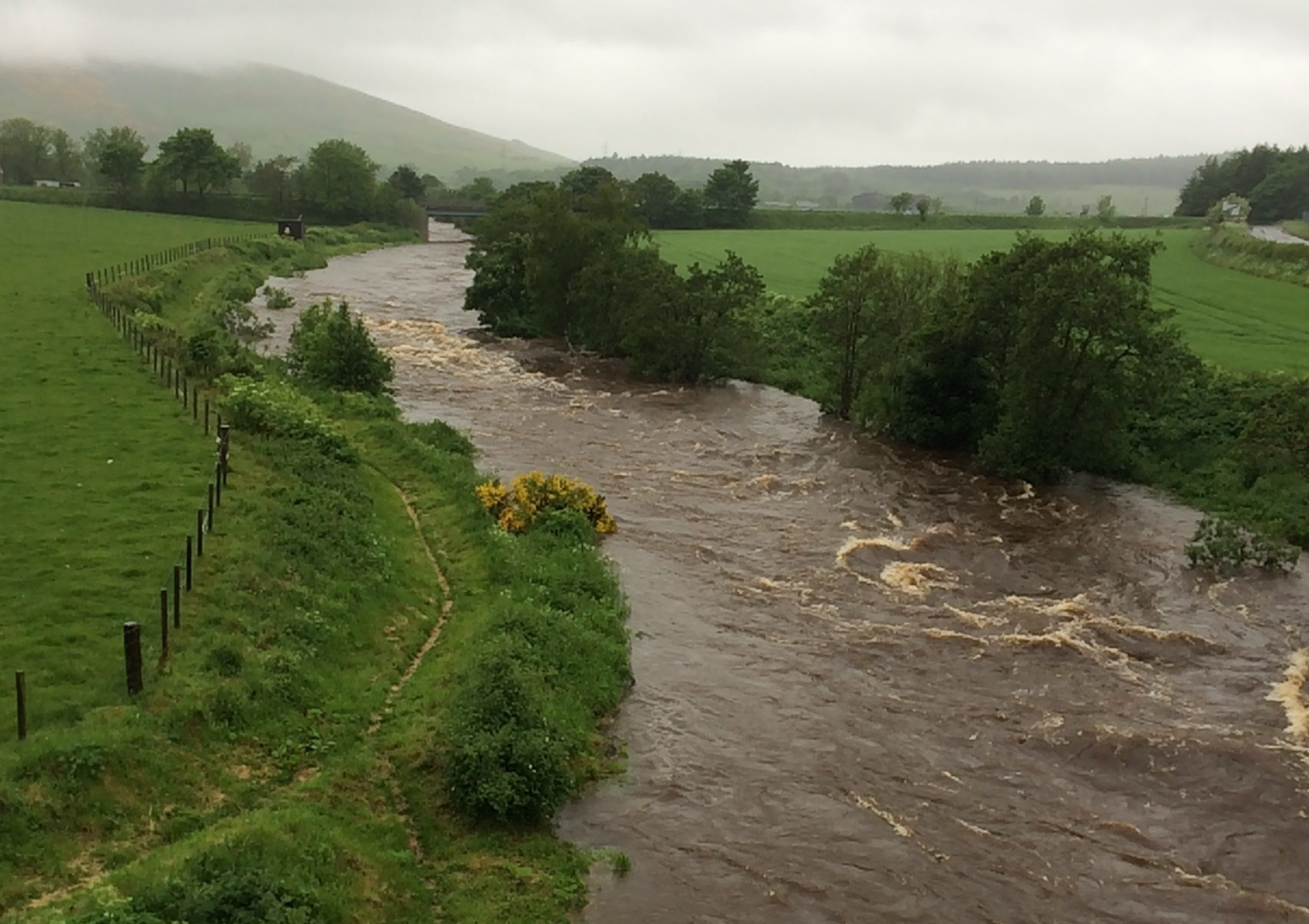 The River Bogie threatened to burst its banks earlier this week.