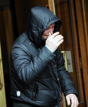 Robert Littlejohn leaving Aberdeen Sheriff Court