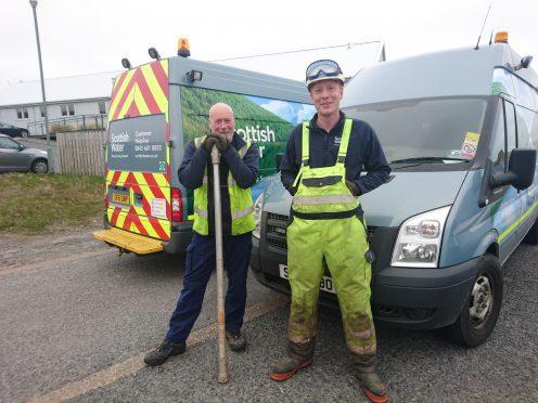 Scottish Water heroes Garry Ward and Doniain MacLeod