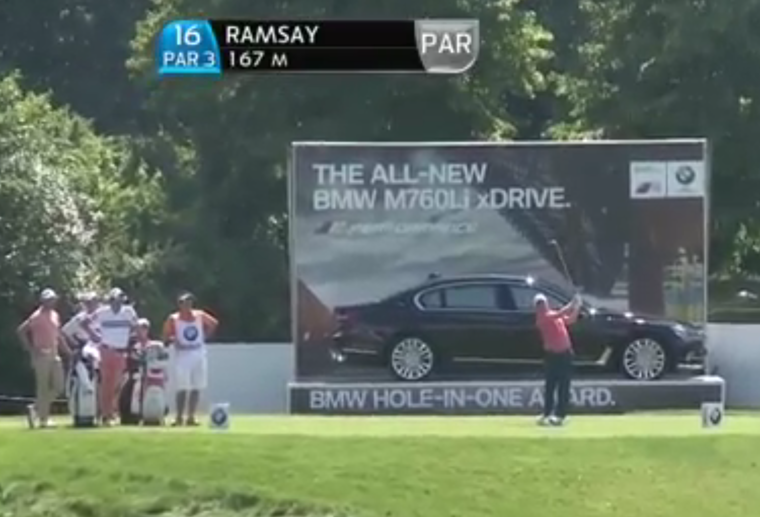 Richie Ramsay downs a hole-in-one to win the car