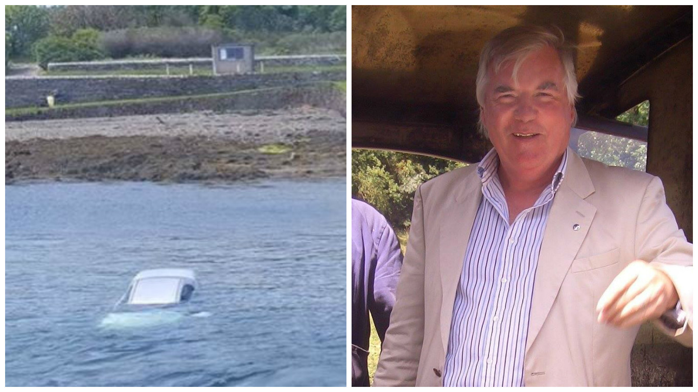 Stuart McIvor took to the water to save the driver