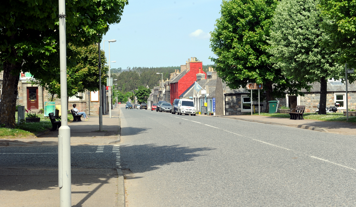 """Tomintoul resembled a """"ghost town"""" during the closure."""