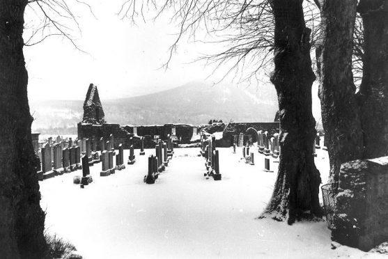 Tullich Kirk near Ballater, home of the symbol stones