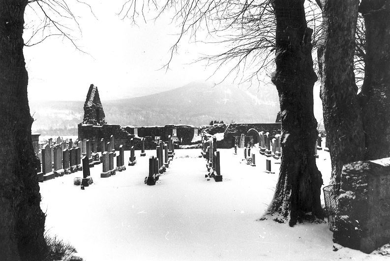 Tullich Kirk near Ballater, home of the symbol stones