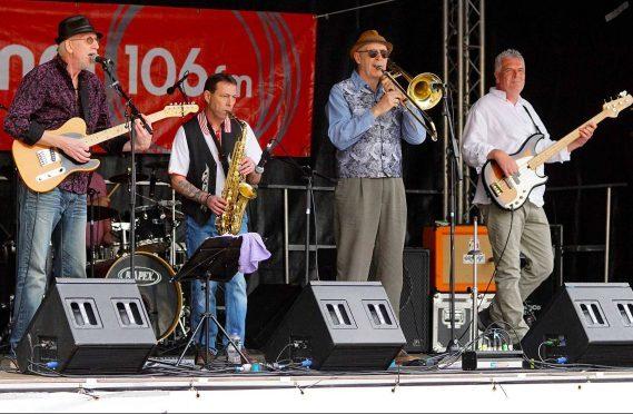 Jim Paterson with his new band Urang Mutang. Credit: Michael Macfarlane
