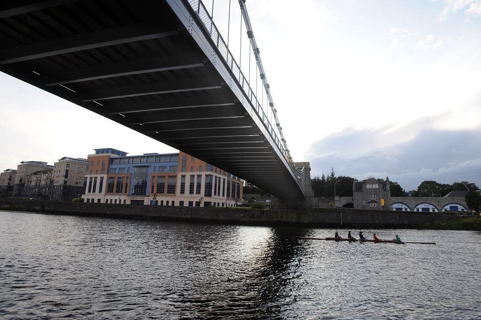 Wellington Suspension Bridge, in Aberdeen