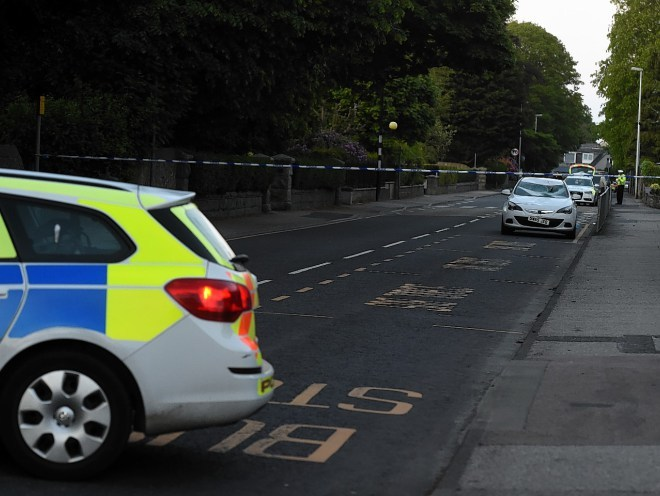 The scene of the collision on Station Road, Ellon.  Picture by Jim Irvine