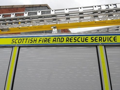 The fire happened at the Jobcentre in Invergordon.