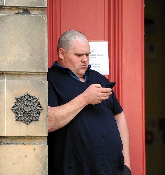 Christopher Jamieson outside Elgin Sheriff Court