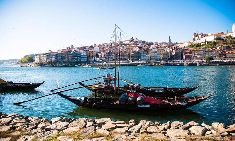 Rabello wine boat on the River Douro