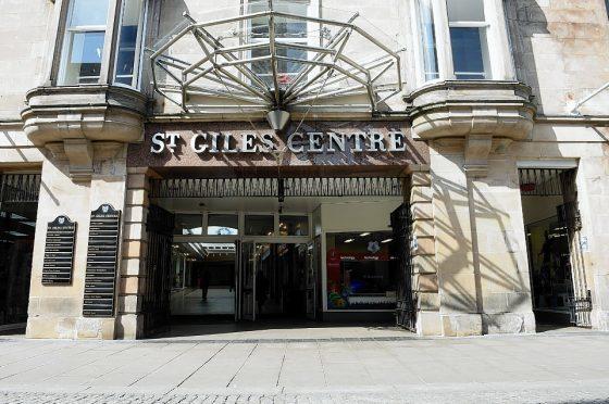 St Giles Centre, High Street, Elgin. Picture by Gordon Lennox