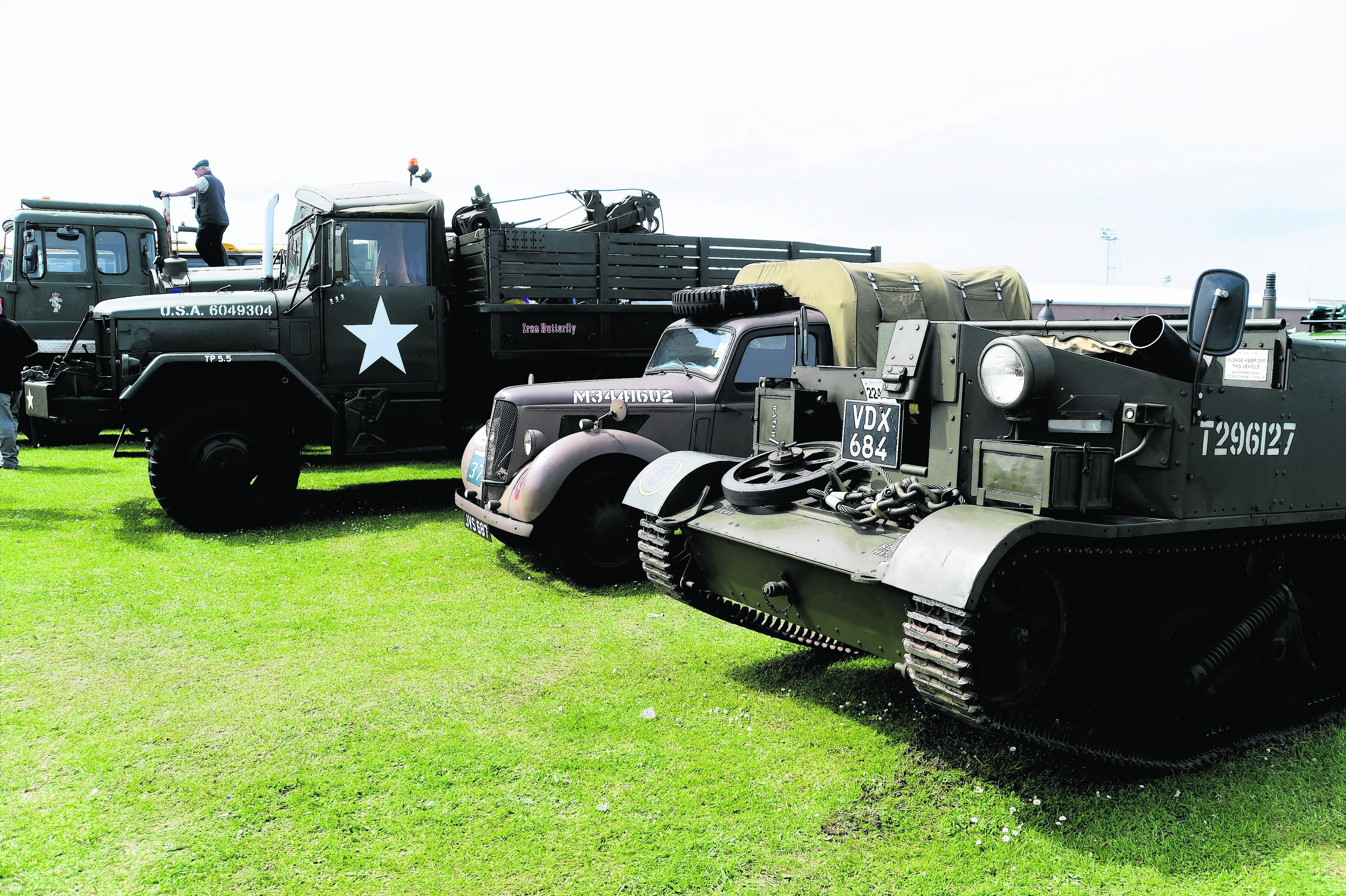 Classic military vehicles will be on show at this year's car rally.