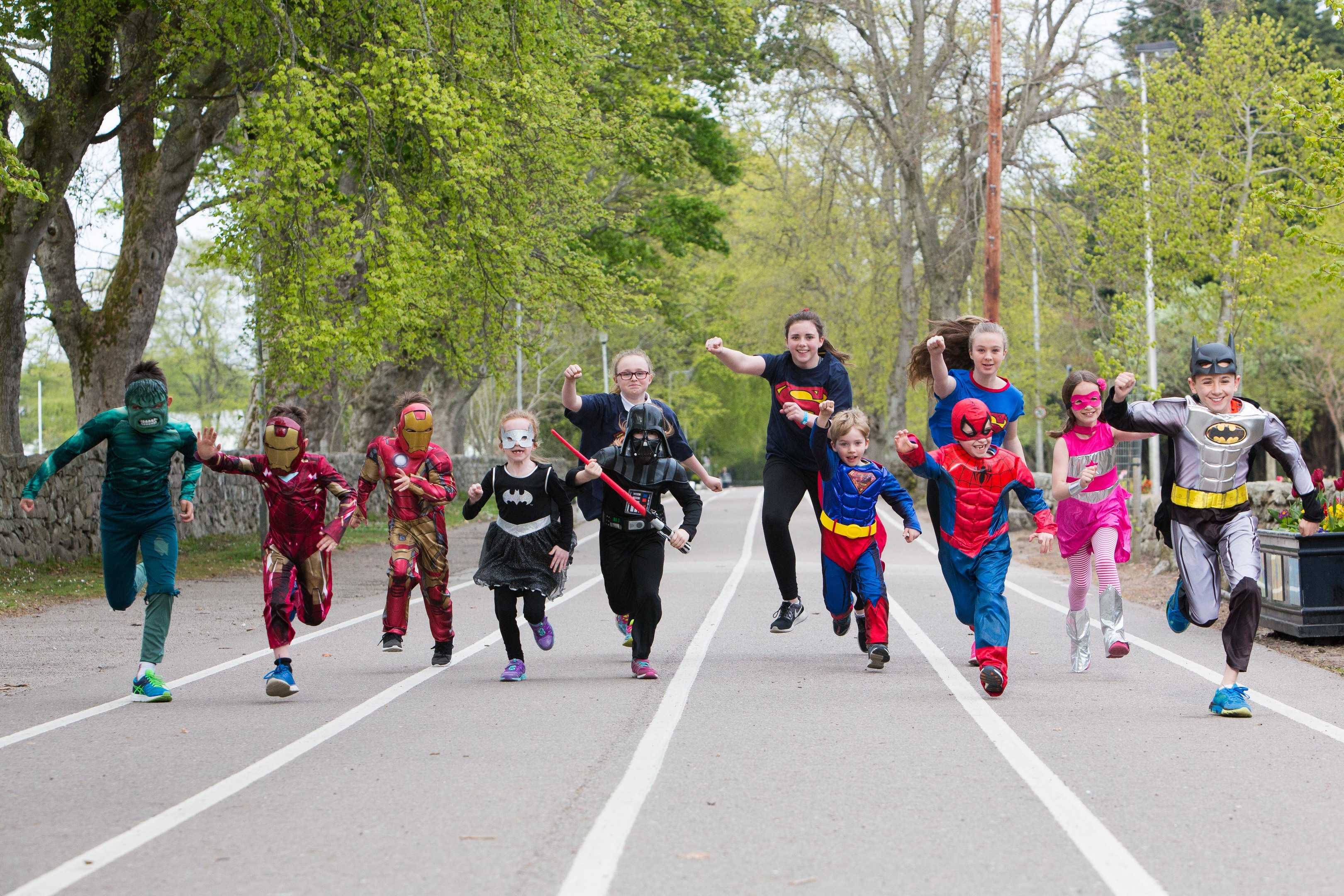Dandara once again sponsored the Friends of Hazlehead 5k, which had a superhero theme.