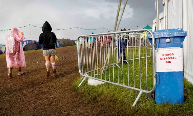T in the Park amnesty bins (PA)