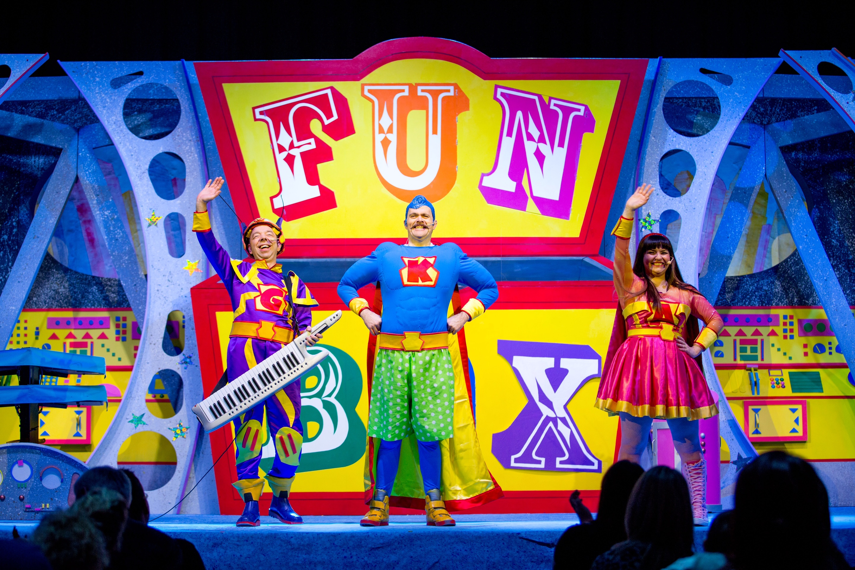 The FUNBOX - Super Heroes Show DVD recording at the SECC in Glasgow, 14th February 2016. Picture by John Young © www.youngmedia.co.uk 2016 ALL RIGHTS RESERVED