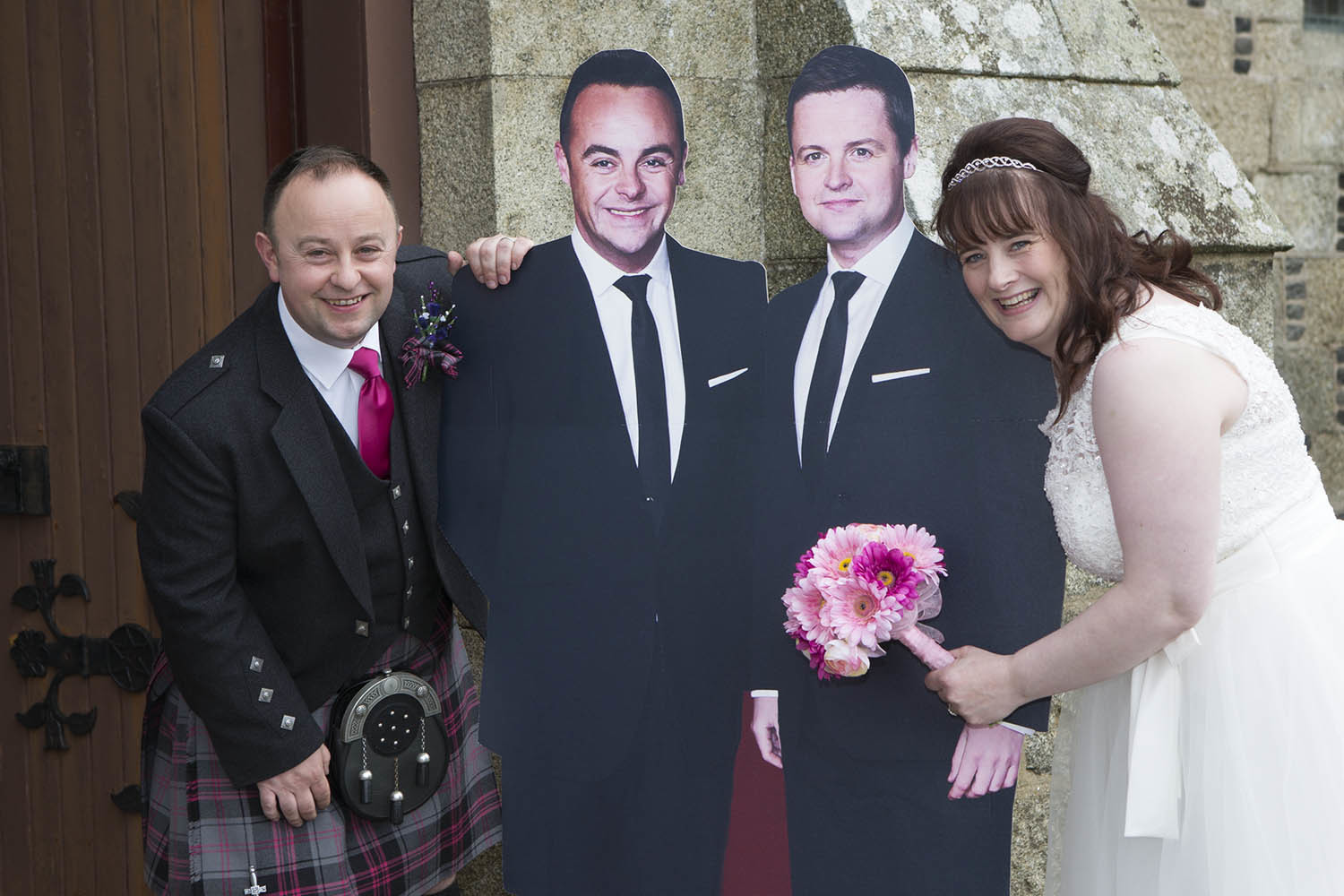 Don and Julie Allan with their famous ushers