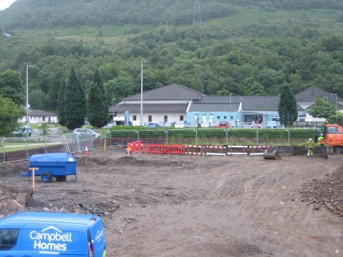 Work gets underway on the site of the former Belhaven Ward in Fort William