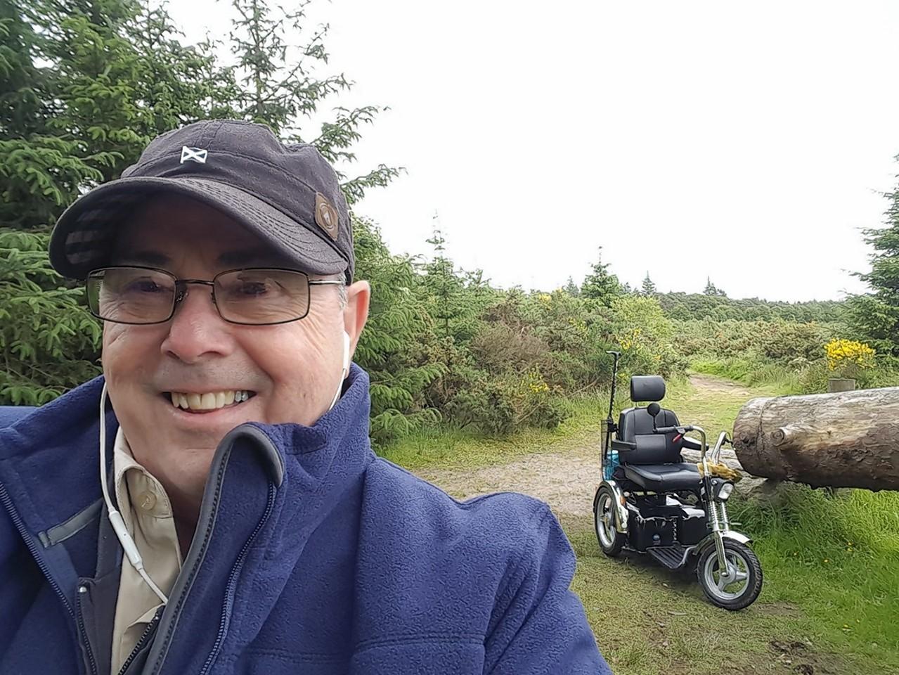 Bill Robertson a disabled mountaineer from Aberdeen