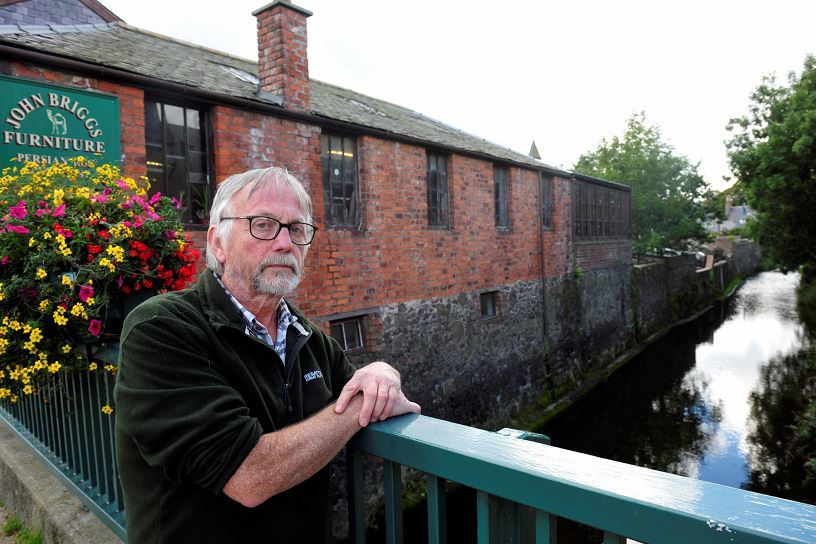 John Briggs at the bridge over the River Carron