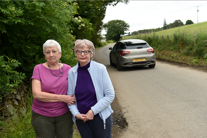 Diane Goldsworthy and her neighbours are hitting out at the closure of the A97 for road works