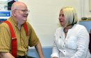 Sandy Cooper, service user, and Aileen Thomson,  project manager