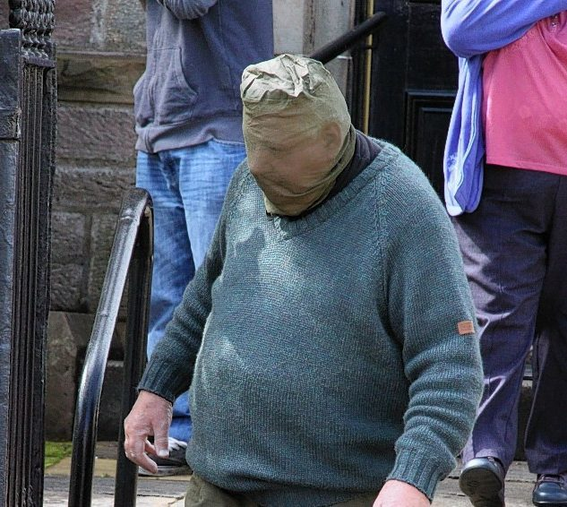 Charles Wright in disguise as he left Fort William Sheriff Court