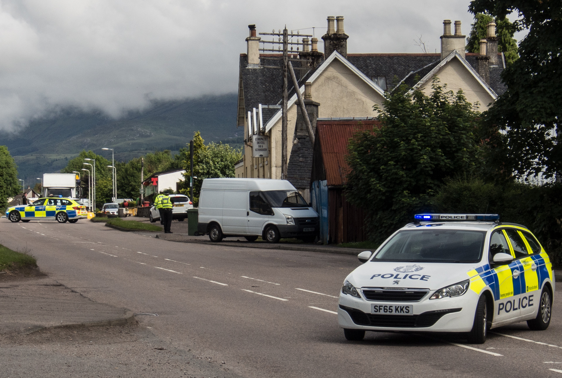 An accident in Corpach closed the A830 for about 45 minutes