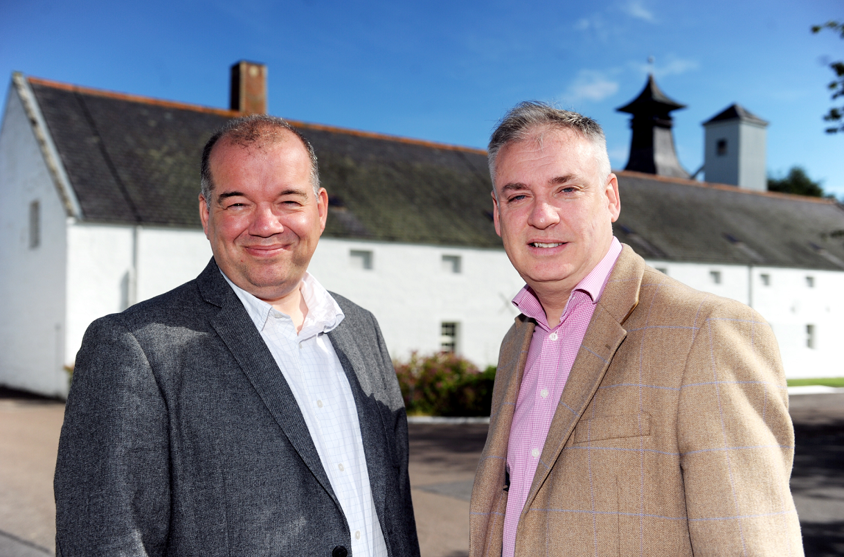 David Mitchell, left, acting chief executive Historic Environment Scotland, and Richard Lochhead, MSP, were at Dallas Dhu Dustillery, near Forres, for the meeting.