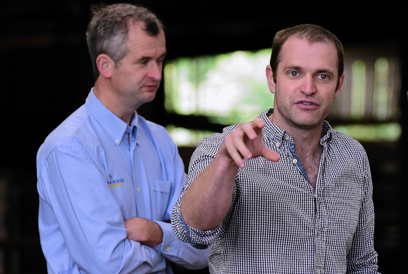 Andrew Millar, Ardene Vets (left) and SAC Vet Tim Geraghty