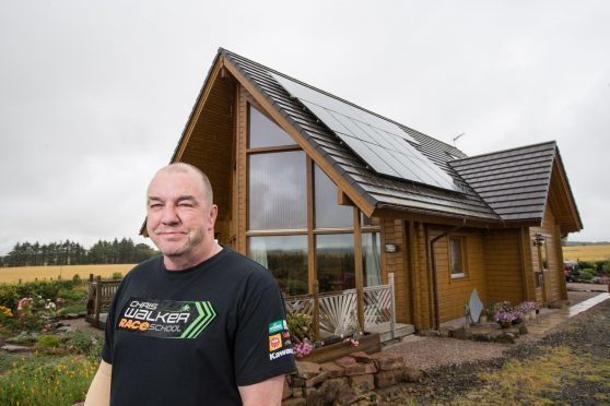 Russell Quinlan at his home, near Fyvie