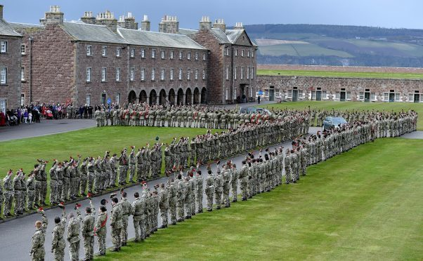 Fort George, where the Black Watch corporal was based.
