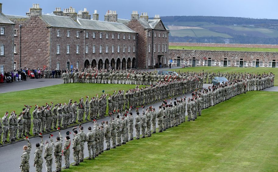 Fort George, where the Black Watch is based.
