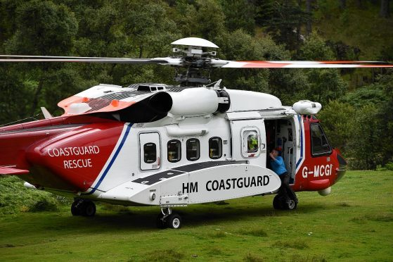 A man was airlifted to hospital after a fall at Dunnottar Castle.
